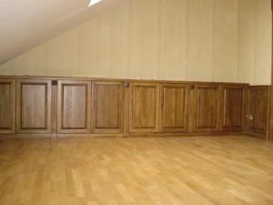 Отделка стен деревянными стендовыми панелями